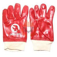 Перчатки рабочие Intertool SP-0006, ХБ (PVC)