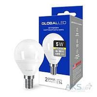 Светодиодная лампа GLOBAL G45 F 5W 3000K 220V E14 AP (1-GBL-143)