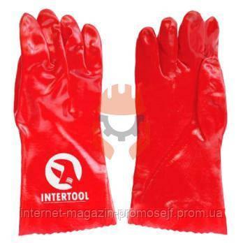 Перчатки маслостойкие Intertool SP-0007