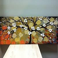 """Картина  из натуральной шерсти """"Дерево счастья"""""""