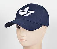 "Бейсболка ""Котон 5кл"" I-01 Adidas синий, фото 1"
