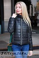 Легкая стильная черная куртка, фото 1