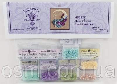 Бисер Moon Flowers Mirabilia Designs Mill Hill Embellishment Pack