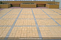 Тротуарная плитка Кирпич 200х100х80 - желтый