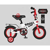 Детский двухколесный велосипед для мальчика PROFI 14 дюймов красно-белый, T14172 Flash