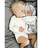 Детское одеялко Elodie Details 2 в 1 из бамбука, Marble Grey
