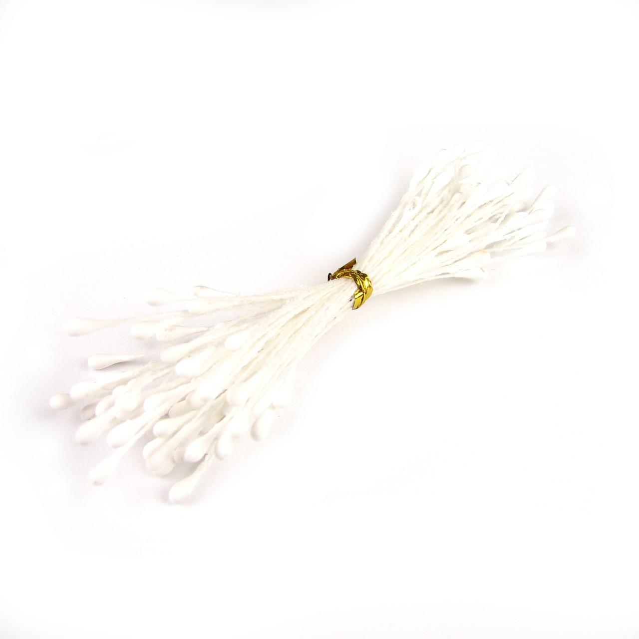 Тычинки матовые 2мм, белые