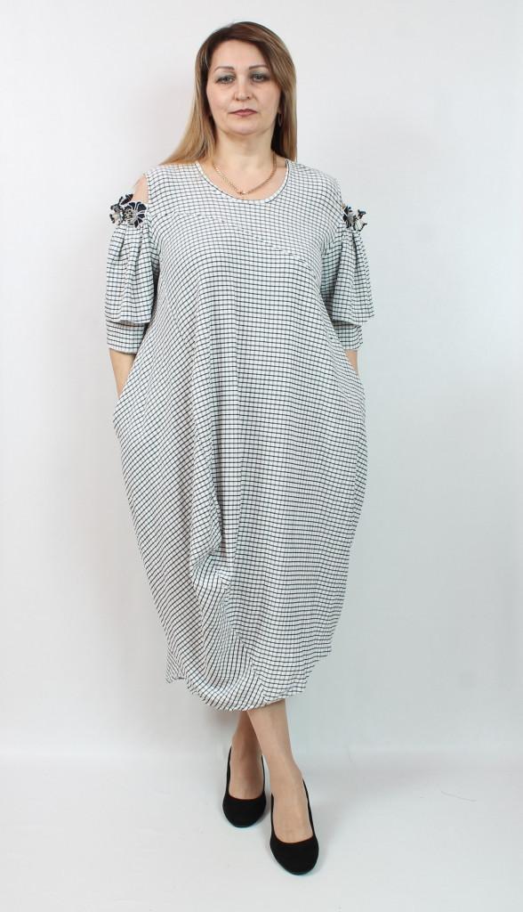 Турецкое летнее женское платье, размеры 54-64
