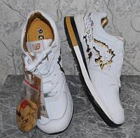Кроссовки кожаные NB 5100 в стиле New Balance Gold, 43/44 размер