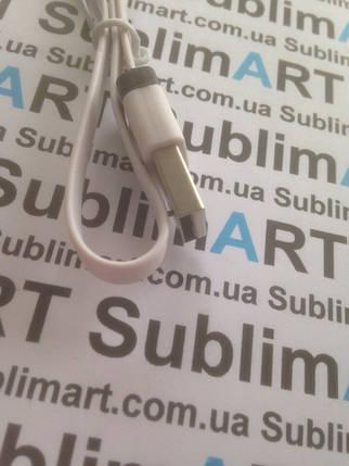 Usb кабель плоский 30 см для Samsung, Lenovo, HTC, и т. д. (белый), фото 2