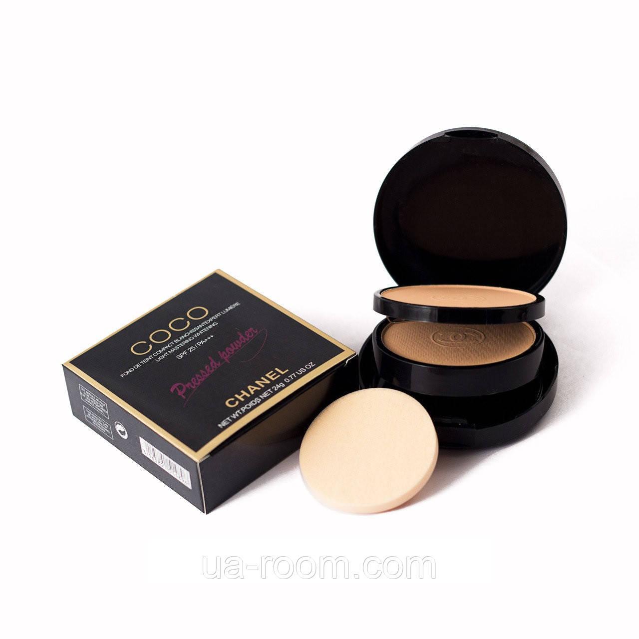 Компактная двойная пудра для лица Chanel Coco pressed powder  CH 1489