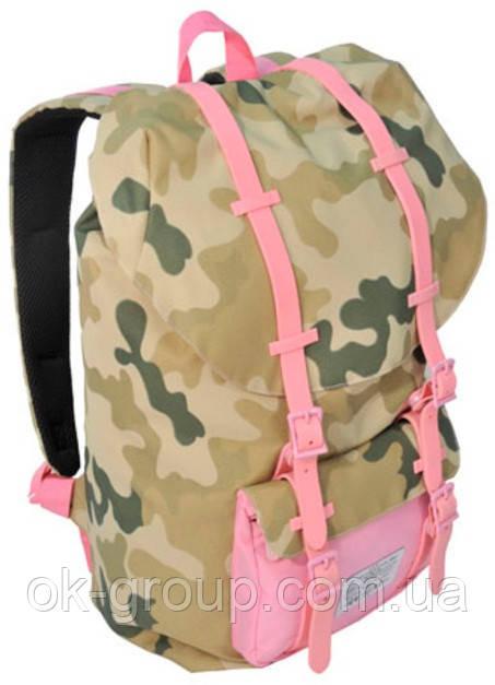 """Рюкзак для ноутбука 15,6"""" Paso CM-192A камуфляж/розовый  25 л"""