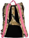 """Рюкзак для ноутбука 15,6"""" Paso CM-192A камуфляж/розовый  25 л, фото 2"""