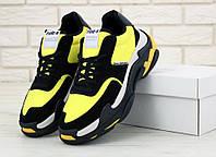 Кроссовки мужские Balenciaga Triple S в стиле Баленсиага Трипл С желтые
