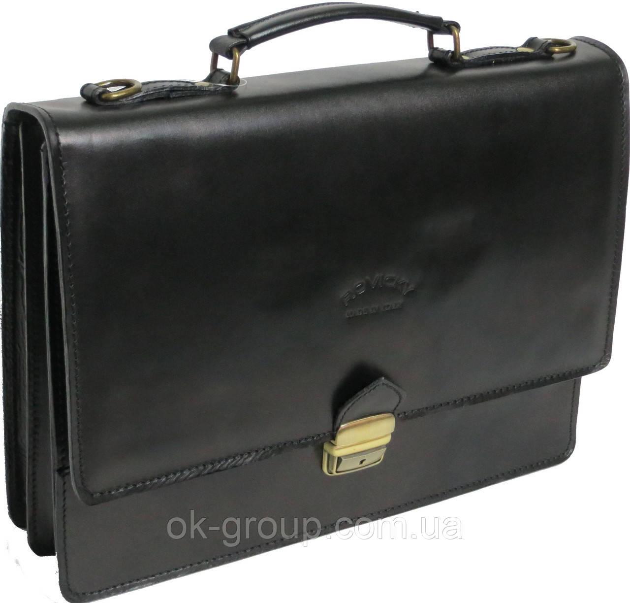 Портфель из качественной натуральной кожи Rovicky AWR-2 черный
