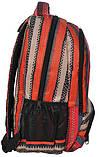 Молодежный яркий рюкзак в полоску PASO 21L 15-8122D красный, фото 2
