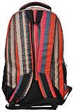 Молодежный яркий рюкзак в полоску PASO 21L 15-8122D красный, фото 3