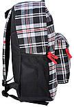 Рюкзак в клетку Paso 14-016B серый 18 л, фото 2