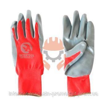 Перчатки рабочие, строительные, Intertool SP-0124