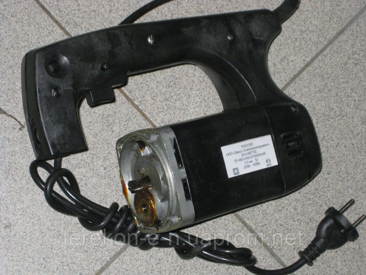 Якір, статор, ручка, кнопка на електроножиці иэ5407у2 (иэ5405у2)