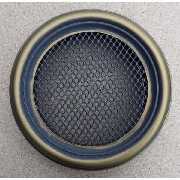 Каминная решетка Parkanex круглая, золотая патина