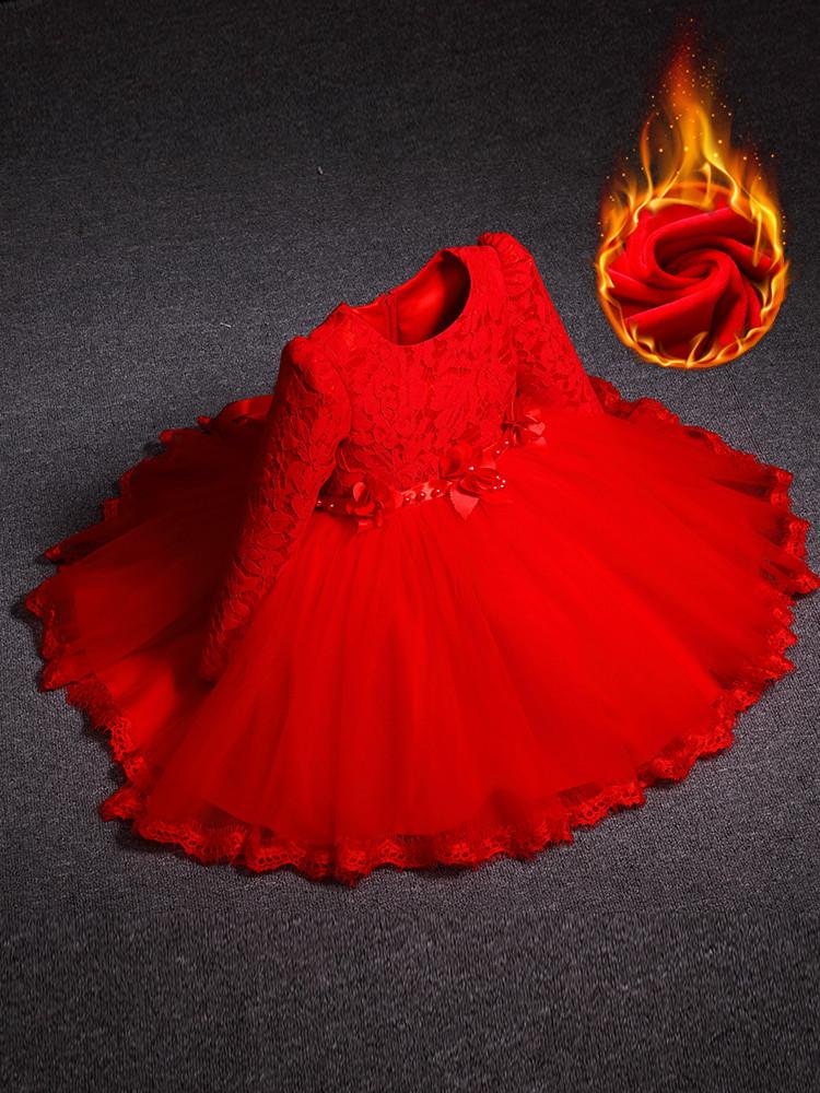 Платье детское нарядное теплое
