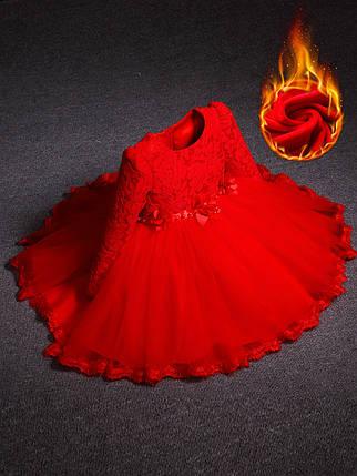 Платье детское нарядное теплое , фото 2