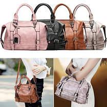 Відмінна жіноча сумка бочонок, фото 2