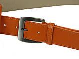 Сумка на пояс+ремень кожаные Monochrome 74688 оранжевый, фото 5