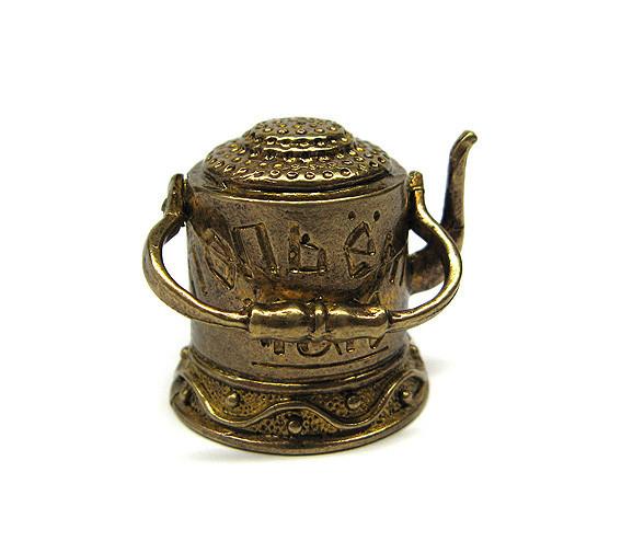 Декоративный наперсток бронзовый Чайник
