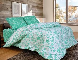 Двуспальный комплект постельного белья евро 200*220 хлопок  (11463) Украина