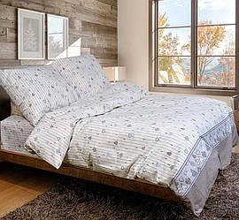 Двуспальный комплект постельного белья евро 200*220 хлопок  (11464) Украина