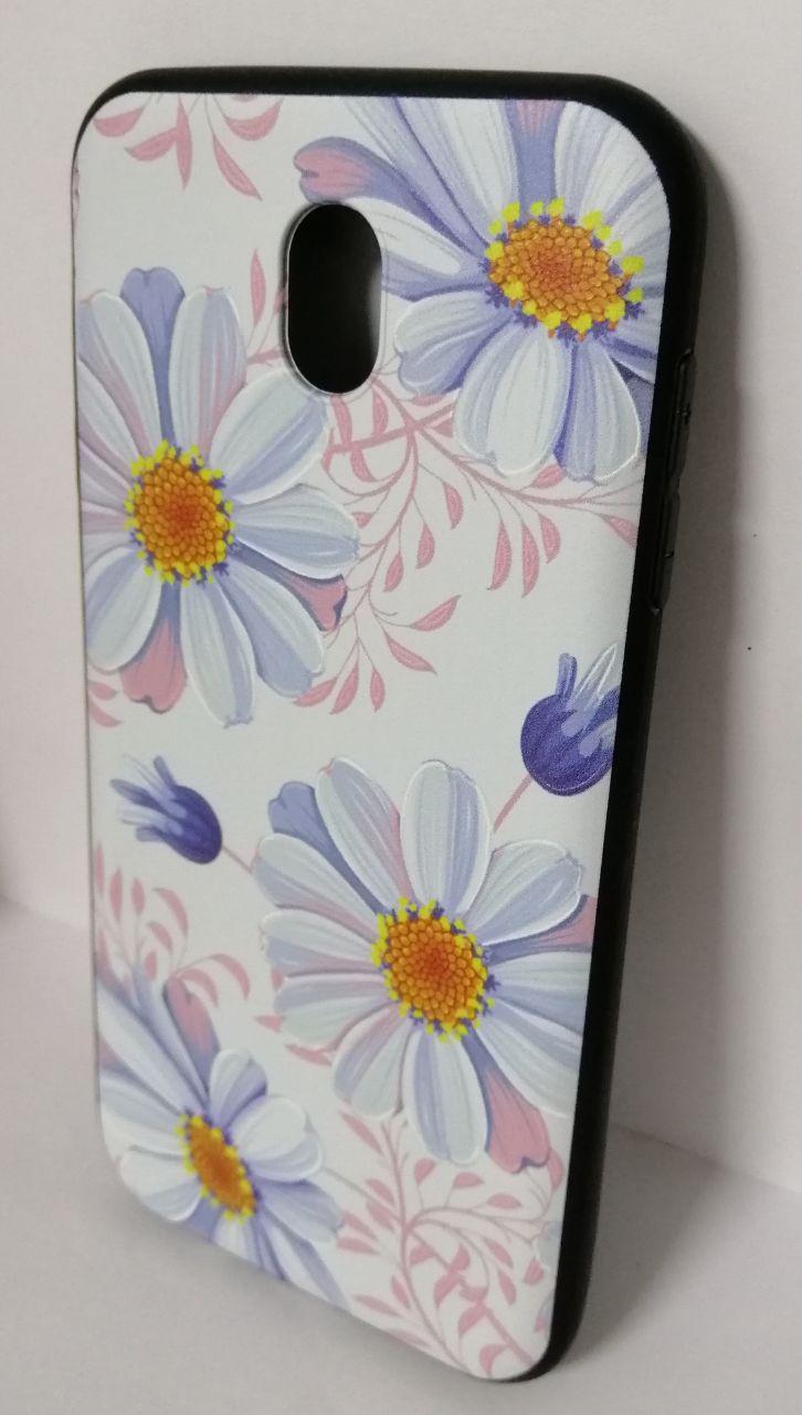 Чехол силиконовый для Samsung (J730) 3D Flowers