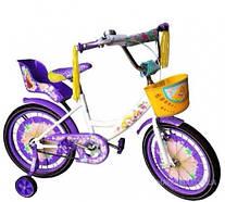 """Велосипед двухколёсный Azimut 12"""" GIRLS фиолетовый"""