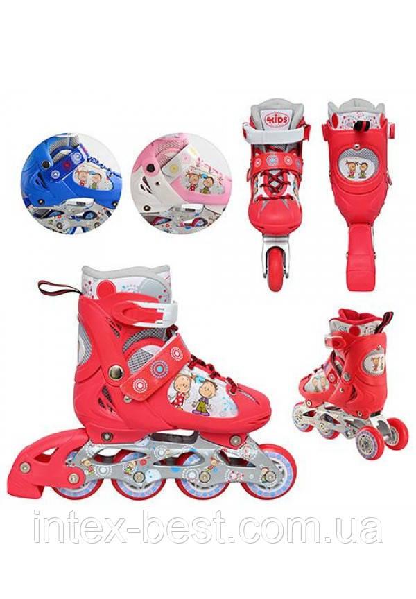 Profi Roller B 3014 S-R (Красные) детские раздвижные ролики