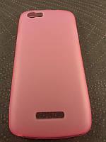 Комплект чехол и пленка для Fly iQ4405 Evo Chic розовый
