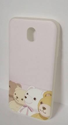 Чехол силиконовый для Samsung J7 (2017) J730 Bear White, фото 2