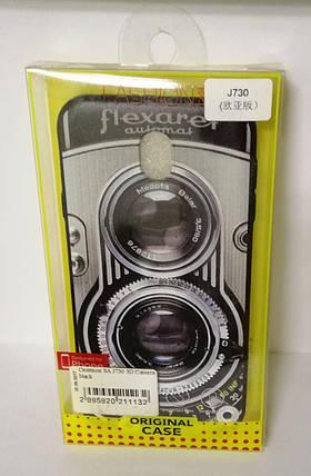 Чехол силиконовый для Samsung J730 3D Camera Black, фото 2
