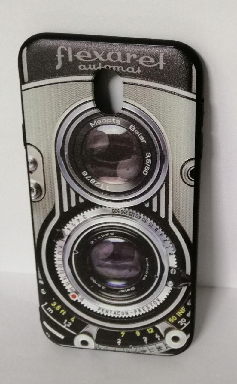 Чехол силиконовый для Samsung J730 3D Camera Black