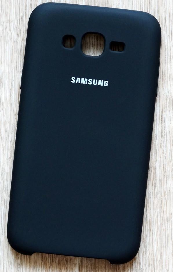 Силикон для Samsung J7/J700/J701 Black Soft Touch