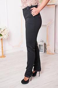 Женские брюки Хилари черные с красным