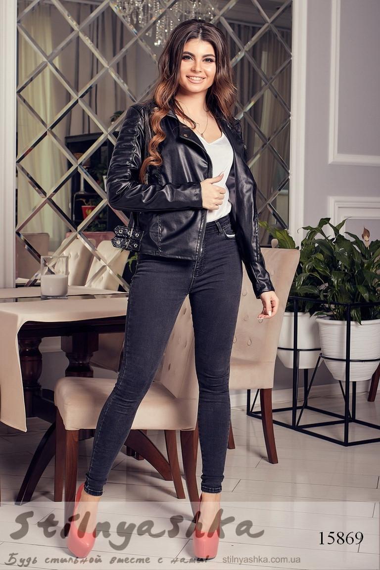 женская куртка эко-кожа