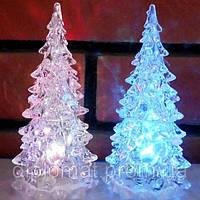 Новогодний LED светильник Ёлка бел. (8*17см)