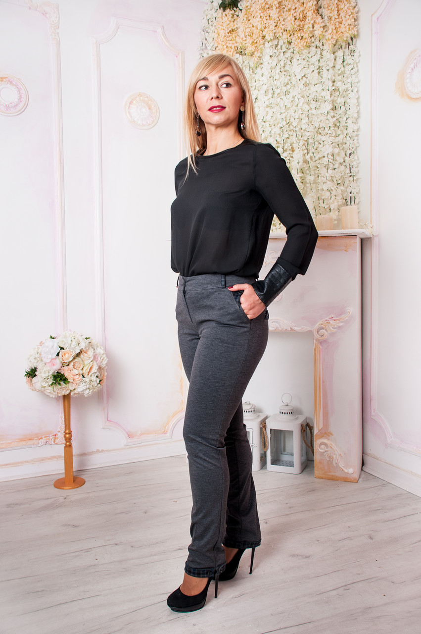8584926ca1ac Женские брюки Хилари серого цвета : продажа, цена в Киеве. брюки женские от  ...