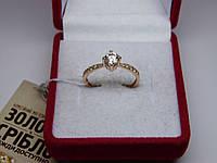Золотое женское кольцо. Размер 17,5