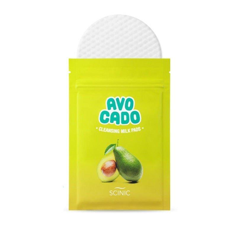 Очищающие спонжи для снятия макияжа Scinic Avocado Lip And Eye Remover Pads