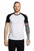 Мужские футболки двухцветные белый-черный, М