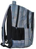 Молодежный рюкзак PASO 24L 15-3519 серый в клетку, фото 3