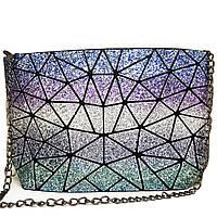 Клатч на молнии Geometry Glitter Cosmos
