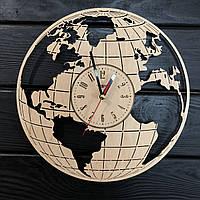 Часы настенные из дерева «Земной шар», фото 1